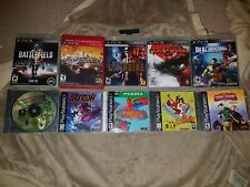 Lot of 10 Video Games - 5 PS3 & 5 PS1 - Playstation 1 3