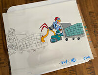 Sonic the Hedgehog Original Painted Animation Cel Scratch
