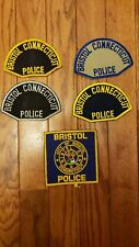 Collection lot of vintage and obsolete Bristol Connecticut Police patches