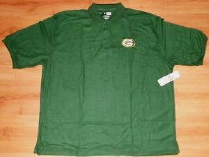 Green Bay Packers Polo Shirt 5XL Green Embroidered Logo NFL Football