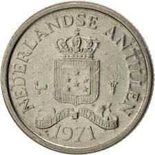 [#96746] Netherlands Antilles, Juliana, 10 Cents, 1971, EF(40-45), Nickel, KM:10