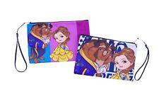 Beauty And The Beast Clutch Cosmetic Bag - HandBag Wristlet - Makeup Purse