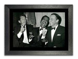 The Rat Pack Laughing Oldschool Poster Amazing Black & White Photo Classic