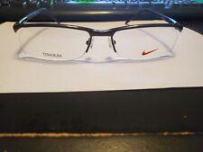 Nike Titanium 6020 001 BLACK  Men's Half-Rimless  Frames 56MM/17/140 PERFECT