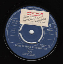 """The COUNTS - I Should Be Better Off Without You > 7"""" Promo Single , Nederbeat"""