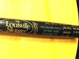 1993 PHILLIES World Series NL Champions Daulton,etc.Black Baseball Bat-Exc./Mint