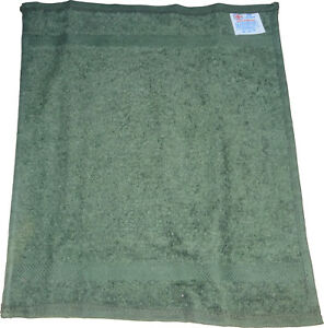 """Pack of 12 Face Cloth - Plain 100% Cotton - Face Flannel 11"""" x 11"""" Green - UK"""