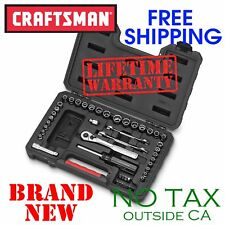 New CRAFTSMAN 58pc Piece Mechanics TOOL SET w STORAGE CASE, SAE n Metric Socket