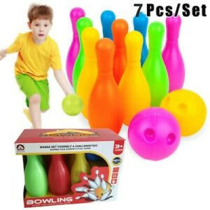 7PC Children's Bowling Toys Leisure Sports Entertainment Set Outdoor Indoor Toy