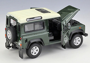 Brand new boxed Welly 1:24 Land Rover Defender die-cast model SUV car green