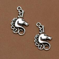 Wholesale 8pcs Tibet Silver Unicorn Charm Pendant Beaded Jewelry DIY 53