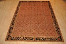 8x11 ft. ORIENTAL RUG HANDMADE KNOTTED vegetable dye Chobi  copper color, brown
