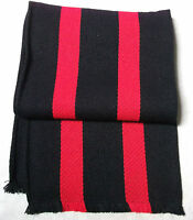 NEW VINTAGE COLLEGE SCHOOL SCARF STRIPED VINTAGE RETRO 1970s 1980s RED BLACK