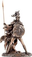 Greco Mitologia Wisdom Divinità Athena/Minerva Cold Scultura Bronzo Statua 26cm