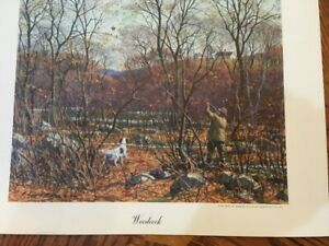 """ A. LASSELL RIPLEY COLOR PRINT titled Woodcock   signed from the 40s original"
