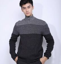 Alfani Knitwear Full Zip Sweater Fleece Pullover - Grey & Black - XS & S
