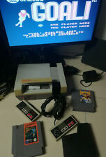 Nintendo NES Console 2 Joypad games GOAL North & South Rad Gravity