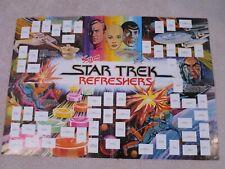 star trek swizzels refreshers poster rare vintage UK