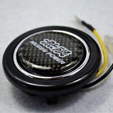 Carbon fiber Emblem ABS Steering Wheel Horns Button for Honda Civic accord