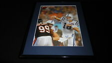 Peyton Manning vs Tank Johnson Super Bowl Framed 11x14 Photo Display Colts