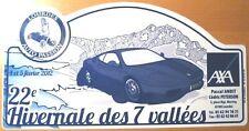 PLAQUE HIVERNALE DES 7 VALLEES 2012 LOURDES PYRENNEES FERRARI F430 RALLYE AUTO