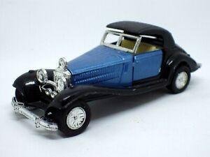 FIGURINE voiture vintage Traction à friction BLEU NOIR 11 CM