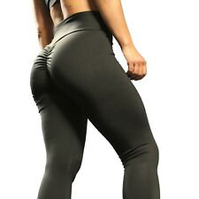 UK Womens Ruched Yoga Pants Butt Lift Leggings Booty Gym Fitness Rapid Strength
