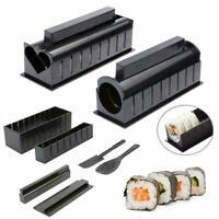 10PCS DIY Sushi Making Kit Rice Roller Mold Set For Beginners Kit Kitchen AU
