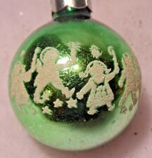 """Vintage Stencil Christmas ornament CHILDREN CANDLES 2"""" Feather Tree"""