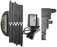 "Micro Scalextric 1/64 HO Slot Car 9"" TERMINAL Straight Track +TRANSFORMER Unused"