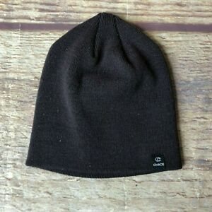 Chaos One Size Acrylic Beanie Hat Brown NWOT