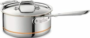 All-Clad 3-QT Copper Core 5-Ply Bonded Dishwasher Safe Sauce pan with Lid