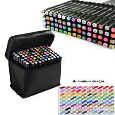 Art Permanent Marker Pens Set 80 Colors Alcohol Markers Dual Tip Brush Art Pens