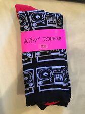 Ladies Socks Betsey Johnson 2 Pairs Size 9-11