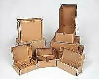 """New listing 8"""" x 6"""" x 2"""" (50) Kraft Corrugated Shipping Mailers Wholesale Strong Lightweight"""