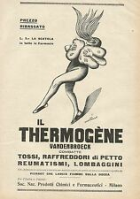 Y0864 Thermogène Vandenbroeck - Illustrazione - Pubblicità 1928 - Advertising