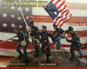 DRAGON BATTLE OF LITTLE ROUND TOP UNION SOLDIERS COMPLETE SET  5 FIGURES  1/24