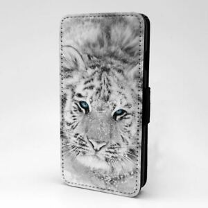 For Mobile Phone Flip Case Cover Tiger Photo - S2785