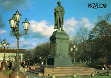 Postcard  Russia Moscow  Monument of A. S. Pushkin in Pushkinskaya  Square