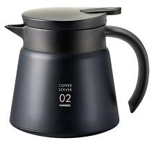 HARIO Japan Coffee V60 Insulated stainless steel server 550ml VHS-60 Black