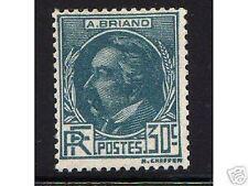 """FRANCIA STAMP SELLO 1933 Y&T 291 """" ARISTIDE BRIAND 30c AZUL VERDE """" xx"""