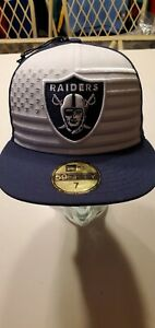 Oakland Raiders NFL 2019 Draft New Era 5950 fitted hat 7
