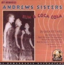 Andrews Sisters Rum & Coca Cola - 20 Greatest Hits