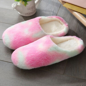 Women Men Anti-Slip Indoor Slippers Home Warm Fleece Warm Shoes Sandals House