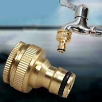 """Brass Hose Tap Connector 3/4"""" threaded garden water Fitting Adaptor Pipe C2Y4"""