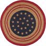 "LIBERTY STARS FLAG Braided Jute 13"" Round Tablemat Trivet"