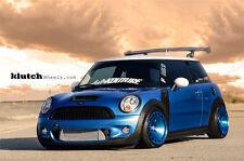 16X8 +15 Klutch KM16 4x100 Blue WHEEL Fits Civic Miata Mx3 Integra Mini Cooper S