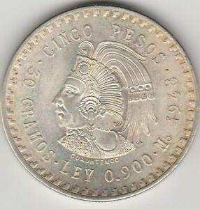 Mexiko.5 Pesos 1948.Cuauhtemoc.!!#17