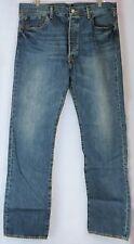 Levi's 501 W36 L33 36x33 Medium Blue Wash Original Fit Straight Leg Button Fly