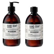 2 x 500ml Ecooking Organic Vegan Hand Wash Soap Cleanser - Orange Lavender Rose